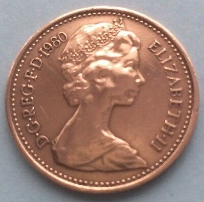 1980 Queen Elizabeth Ii Decimal Half Penny Coin 40Th Birthday / Anniversary