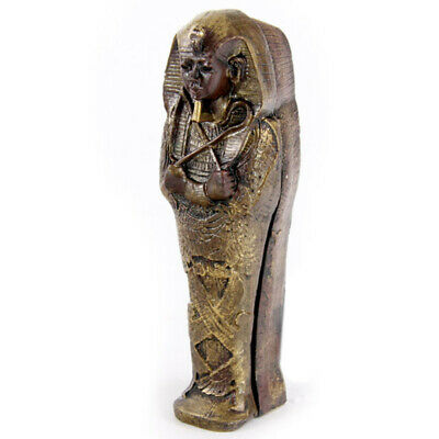 Mini Egyptian Sarcophagus with Mummy 10cm Ancient Design Home and Office Decor