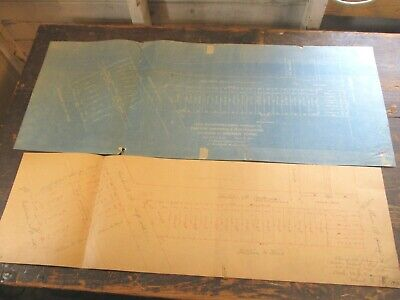 1903 Hand & Blueprint Survey, Main St & Amherst, Esplanade ~ Cambridge, MA