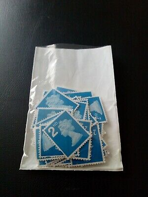 60 x 2nd Blue Unfranked GB Definative Stamps Off Paper. **REDUCED**