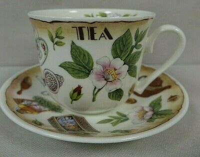 Roy Kirkham Tea Time Fine Bone China Tea Cup And Saucer              (Cha)