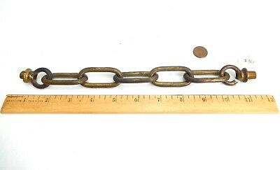 """Antique - Vintage Solid Brass Chain & Loop Assembly.  10 1/4"""".   #36"""