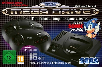 SEGA Mega Drive Mini - CLASSIC CONSOLE 40+ GAMES - BRAND NEW AND SEALED