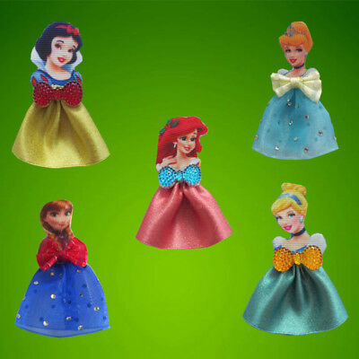 "100 BLESSING 2.5"" Princess Hair Bow Clip Cinderella Frozen Snow White Mermaids"