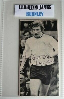 LEIGHTON JAMES BURNLEY WALES FOOTBALL AUTOGRAPH IN 6x4 POCKET SLEEVE SIGNED