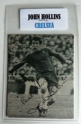 JOHN HOLLINS CHELSEA FC FOOTBALL AUTOGRAPH IN 6x4 POCKET SLEEVE SIGNED
