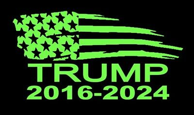 Green President Donald Trump Flag 2020 Vinyl Decal Sticker Car Truck