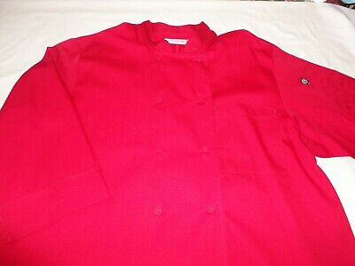Chef Works Chef Coat Red  Men's or Woman's XLarge