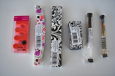 Beauty 360 Half Moon Nail File Double-Sided Salon Quality Boards, File & Pillows