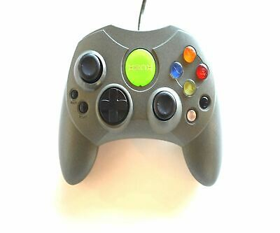 Official Genuine Microsoft Xbox S Original Wired Controller Game Pad Grey