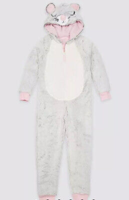 Marks And Spencer Girls Mouse Onesie (not Gerber) Aged 9-10 Years BNWT RRP £25