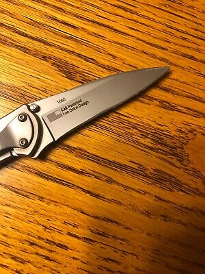 Nice Used KERSHAW 1660 LEEK Stainless Speed-Safe assisted framelock knife