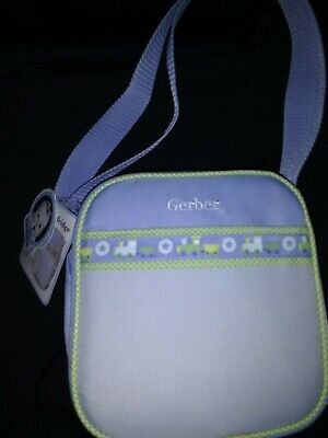 "Gerber Baby Mini Cooler Fridge Travel Bag 7-3/4"" Wide And 8"" High For Boy Nwt"