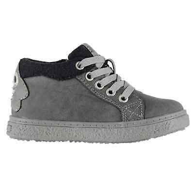 SoulCal Redwood Hi Infants Trainers Sports Shoes Kids High Top Lace Up Zip