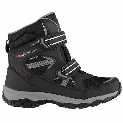 Karrimor Kids Snow Fall Boots Juniors Breathable Waterproof Padded Ankle Collar