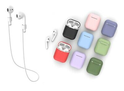 Case Cover For Apple Airpods 1 2 Shockproof Protective Silicone Thin Skin Color