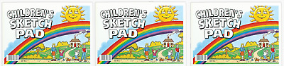 Pack Of 3 Children's A4 Sketching Drawing Pad 80 Pages 100gsm Fine Cartridge Pap
