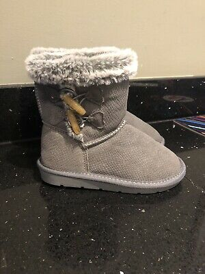Girls TU Grey Boots Infant Size 10 (worn Once)