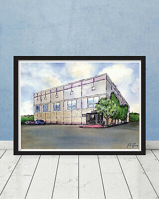 The Office Pam's Watercolor Painting Dunder Mifflin Scranton Schrute Gift Art