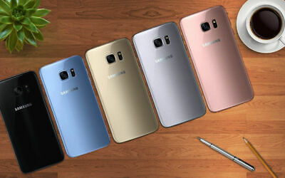 Samsung Galaxy S7 Edge G935F 32GB Unlocked Black White Gold Blue Pink Android