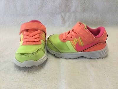 NEW Infant Toddler Boys NIKE Dual Fusion Lite 599293 008 Orange Sneakers Shoes