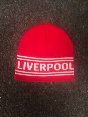 Liverpool Red & White Beanie Hat Gift Souvenir Adult One Size