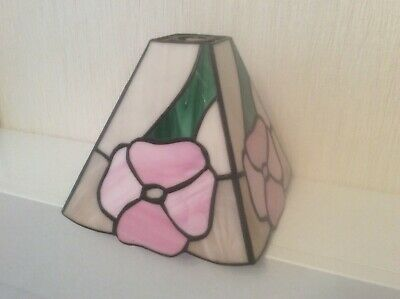 Art Deco Style Ceiling Light Shade  Stained Glass