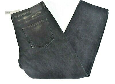 Calvin Klein Men Jeans Pants 38 x 30 New Black Slim Faded Acid wash Party Casual