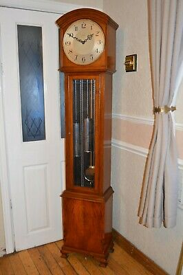 A FINE QUALITY ENFIELD WESTMINSTER CHIME WALNUT LONGCASE CLOCK c1930 *SERVICED*