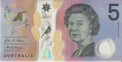 Australian $5 Dollar Polymer Bank Note Lightly Circulated Valid Currency