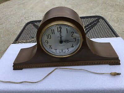 1930s Antique Electric Sessions Mantel Clock Parts Westminster Not Working