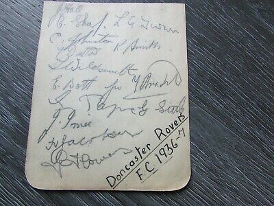 Doncaster Rovers 1936-37 Original Multi Signed Football Team Autographed Page #2