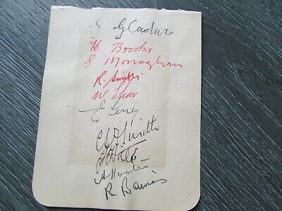 Doncaster Rovers 1936-37 Original Multi Signed Football Team Autographed Page #3