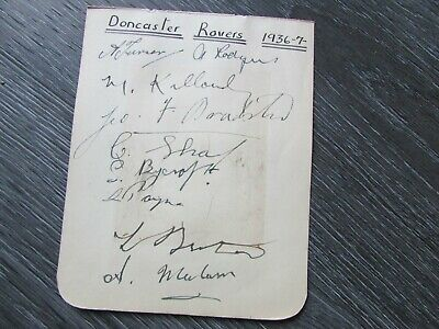 Doncaster Rovers 1936-37 Original Multi Signed Football Team Autographed Page #4