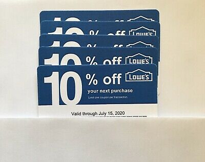 5-Lowe's Blue Card 10% Off For Home Depot+Other Comp Not Lowe's  Exp. 07/15/20