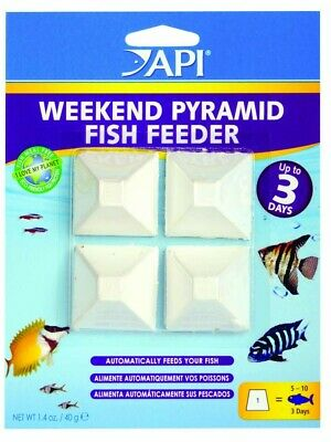 (4 Pack) API 3-Day Pyramid Fish Feeder Nutritious Slow-release Pellets 4 count