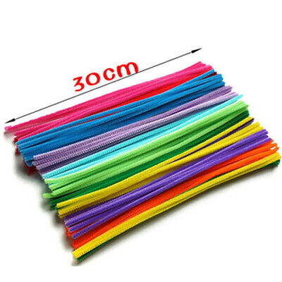 50 Pcs infuse Pipe Cleaners Chenille Craft Sticks  Asst Colours 30cm