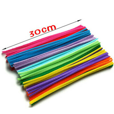 80 Pcs infuse Pipe Cleaners Chenille Craft Sticks  Asst Colours 30cm