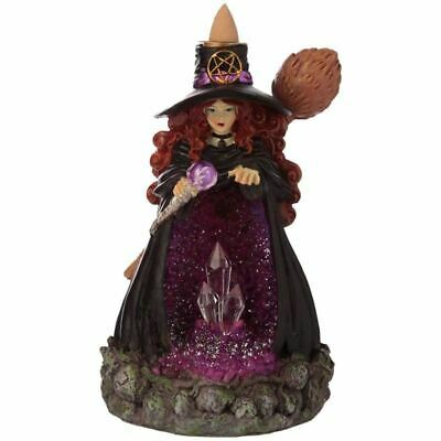 Backflow Incense Burner: Witches Crystal Cave LED  Witch Wicca Pagan Occult