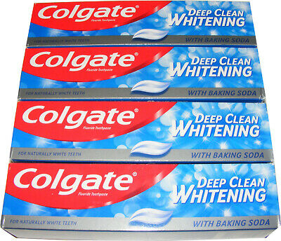 4 Tubes Of Colgate 100Ml Deep Clean Whitening Toothpaste With Baking Soda 100Ml