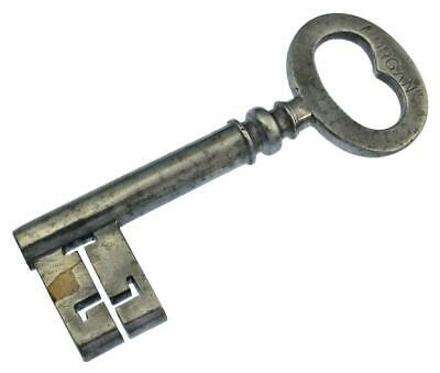 "Antique Victorian Key 4⅜"" - Stamped Morgans - REPAIRED - ref.k605"