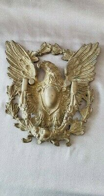"Vintage Cast Brass Eagle Door Knocker   9"" x 8""   HEAVY"