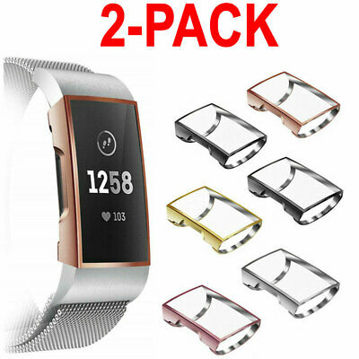 2X For Fitbit Charge 3 Smart Watch Band Case Rugged Screen Protector Silicone