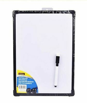 1x A4 Teachable Whiteboard with Marker Two Magnet Buttons school 290mm × 220mm