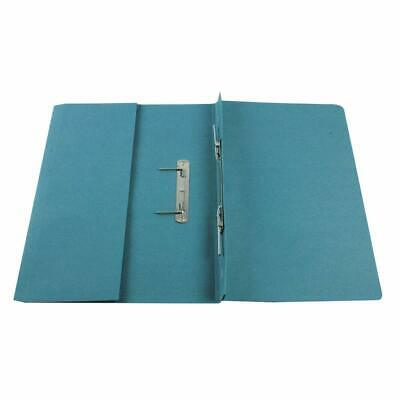 Q-Connect KF26094 Transfer Pocket File Foolscap 38mm Capacity - Blue