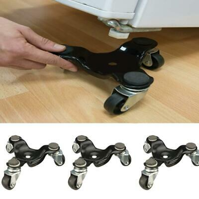 3 Wheeled  Moving Metal Dolly Dollies Castors Removal Tool Choice Qty