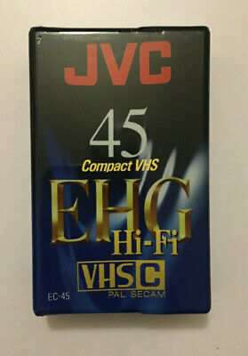 JVC 45 compact vhs EHG Hi Fi (VHSC) Pal Secam blank tape brand new and sealed