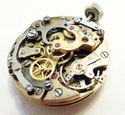 Lemania Chronograph goldfield not  working need service  (Z463)