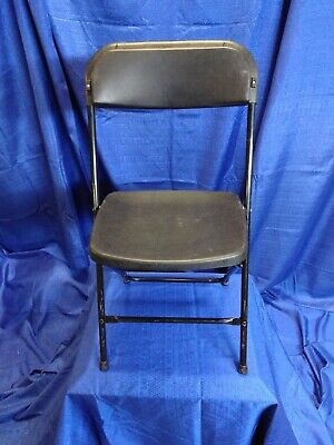Plastic Folding Chairs for Weddings/Parties/Events Commercial Black