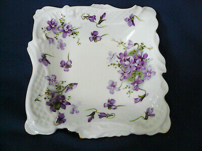 Hammersley England Countryside ~ VICTORIAN VIOLETS ~ Sweet Meat Dish candy
